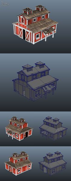 Low Poly Barn - 3DOcean Item for Sale