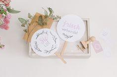 Natürlich Rosé – Stempel, Karten, Anhänger, Girlande und Schilder für Euren natürlichen Hochzeitslook