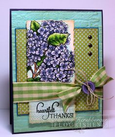 Hydrangea card ~ use your imagination with any of your floral stamps
