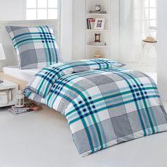 Bügelfreie Seersucker Bettwäsche Victor mit Reißverschluss. Das Design der Bettwäsche überzeugt mit einer schönen Streifenoptik. www.bettwaren-shop.de