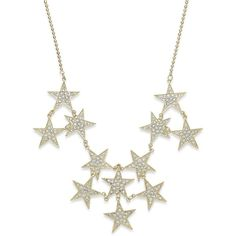 Bar Iii Gold-Tone Pave Stars Statement Necklace found on Polyvore featuring polyvore, fashion, jewelry, necklaces, gold, gold colored necklace, star necklace, polish jewelry, gold tone jewelry and sparkly necklace