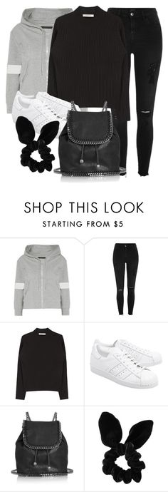 """Untitled #11820"" by vany-alvarado ❤ liked on Polyvore featuring Norma Kamali, River Island, adidas Originals, STELLA McCARTNEY and Topshop"