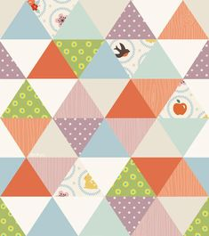 Le lapin dans la lune - Non dairy Diary - Hipster pattern. love the triangles and the colors