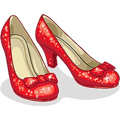 Wizard Of Oz Ruby Slippers Clipart Dorthy Wizard Of Oz, Wizard Of Oz Shoes, Wizard Oz, Diy Tattoo, Tattoo Ideas, Wizard Of Oz Tattoos, Dorothy Shoes, Illustration Tattoo, Ruby Red Slippers