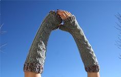 Twisted Maiden Fingerless Gloves by Anushka Tay