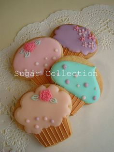 cup cake cookies 1 by JILL's Sugar Collection, via Flickr