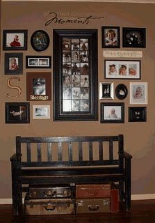 Image result for how to decorate a wall with framed photo collages