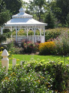 Elizabeth Pensoneau's Garden  - Gazebo as seen from inside our garden in front of the house.