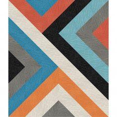 FLOR- carpet tile rug, 7 cut design. Love the geometric rug!
