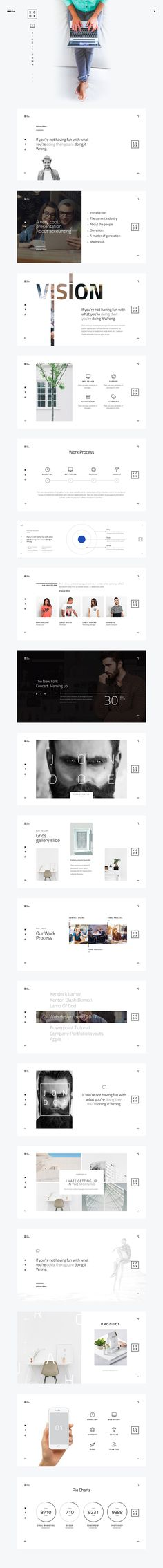 XOXO-Minimal Powerpoint Template by dublin_design on @creativemarket