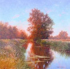 Sunset River Stort, Bishops Stortford Throughout The World, Around The Worlds, Plan For Life, Holiday Travel, Impressionist, Britain, Country Roads, River, Fine Art