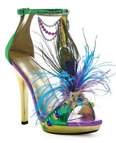 Mardi Gras shoes--would never make it through a ball--you would ruin--but so pretty!