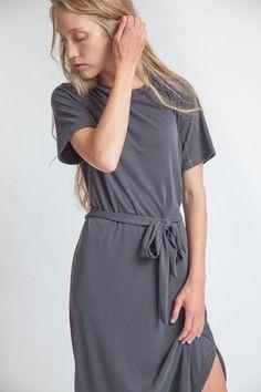 Carina Dress Charcoal