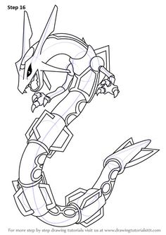 Learn How To Draw Rayquaza From Pokemon (Pokemon) Step By St.- Learn How To Draw Rayquaza From Pokemon (Pokemon) Step By Step … Learn How to Draw Rayquaza from Pokemon (Pokemon) Step by Step how to draw pokemon – Drawing Tips - All Pokemon Drawing, Pokemon Sketch, How To Draw Pokemon, Pokemon Charizard, Dragon Pictures, Pictures To Draw, Dark Art Drawings, Easy Drawings, Drawing Hair
