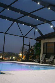 13 Nebula Pool Cage Lighting Ideas Pool Cage Screen Enclosures Screen Enclosure Lighting