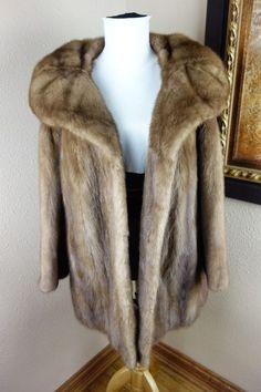 Great Vintage Large XL Mink Fur Coat Jacket 2976s #Seedescription #BasicCoat