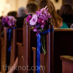 Purple Ceremony Decor
