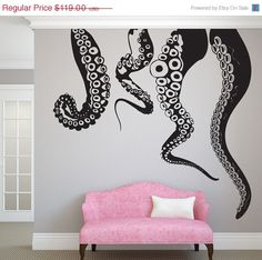 CLEARANCE Jumbo Tentacles Vinyl Wall Decal-Choose Any Color
