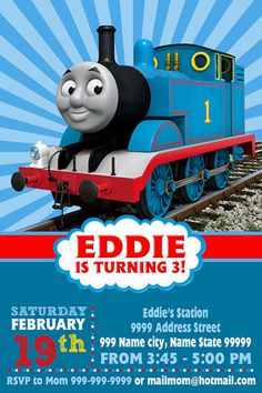 Thomas The Train Invitation Thomas Invitation by RENIPIXELdpi