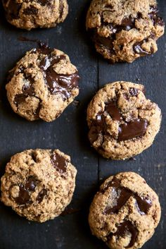 Paleo chocolate chip cookies made with both coconut and almond flour. These low carb cookies are a dream come true! Gluten, grain and dairy free. Chocolate Chunk Cookies, Paleo Chocolate, Coconut Sugar, Coconut Flour, Almond Flour, Cookie Videos, Healthy Desserts, Soup Recipes, Comfort Foods