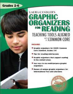 Graphic Organizers for Reading: Teaching Tools Aligned with the Common Core - Available in both digital and print versions - Digital version is free when you purchase the print version $