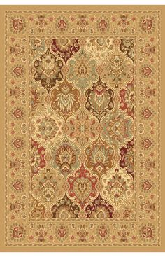 $5 Off when you share! Rugs America New Vision Panel Cherry Rug | Traditional Rugs #RugsUSA