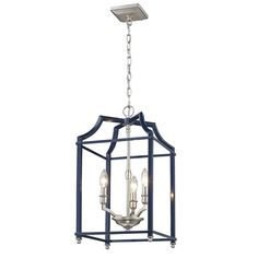 Bring a fresh expression to you home by choosing this durable Golden Lighting Leighton Pewter and Navy Blue Pendant Light. Blue Pendant Light, Lantern Pendant, Pendant Lighting, Blue Lantern, Bronze, Candelabra Bulbs, Hanging Lanterns, Led, Hand Blown Glass
