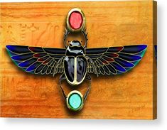 Egyptian Scarab Beetle Acrylic Print by John Wills. All acrylic prints are professionally printed, packaged, and shipped within 3 - 4 business days and delivered ready-to-hang on your wall. Choose from multiple sizes and mounting options. Egyptian Beetle, Egyptian Scarab, Egyptian Symbols, Scarab Beetle Egypt, Scarab Beetle Tattoo, Egypt Concept Art, Egyptian Drawings, Frida Art, Beautiful Bugs