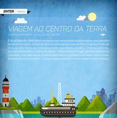 Infográfico: Viagem ao centro da terra