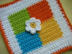 Ravelry: Four Square Potholder pattern by Doni Speigle