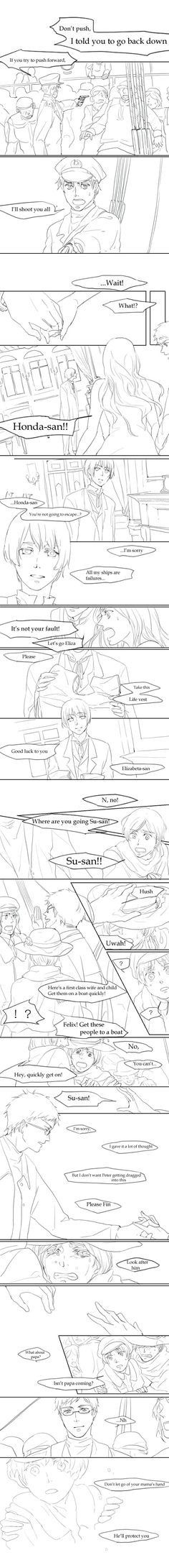 Hetalia and Titanic crossover. That was the sound of my heart being obliterated <<< WAAH