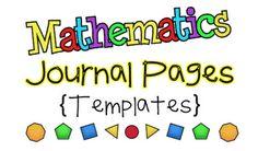 Student Math Journal Materials download
