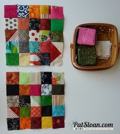 Pat Sloan {Cider Row} a FREE Scrap Busting pattern. http://blog.patsloan.com/2013/10/pat-sloan-free-pattern-cider-row.html