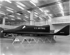 """The Boeing X-20 Dyna-Soar (""""Dynamic Soarer"""") was a United States Air Force (USAF) program to develop a spaceplane that could be used for a variety of military missions, including aerial reconnaissance, bombing, space rescue, satellite maintenance, and as a space interceptor to sabotage enemy satellites. https://en.wikipedia.org/wiki/Boeing_X-20_Dyna-Soarhttps://www.youtube.com/watch?v=JtFreN6iWnQ"""
