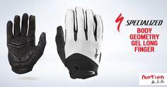 ¡El máximo confort y protección con una fatiga mínima! Ven hoy por los guantes Specialized Body Geometry Gel Long Finger con un acolchado de gel y la tecnología Wiretap, compatible con pantallas táctiles, que permite usar teléfonos móviles sin quitarse los guantes.  #iamspecialized #bodygeometry #beinmotion