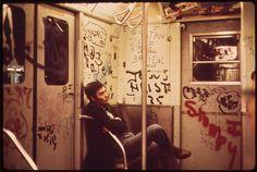 NYC Subway car, 1973.