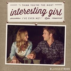 Luke never expected to fall in love with a girl like Sophia. See Scott Eastwood and Britt Robertson in The Longest Ride, in theaters April 10.