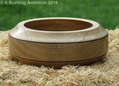 Handmade Wooden Woodturned Bowl Unique Wedding Anniversary Birthday Gift by…
