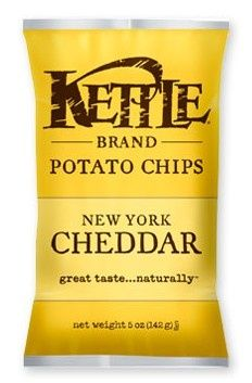 Kettle NY Cheddar Chips in 1.5 oz or 5 oz Bags