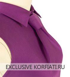 Моделирование выкройки платья с цельнокроеным галстуком
