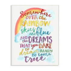 Found it at Wayfair.ca - The Kids Room Somewhere Over the Rainbow with Rainbow Typog Wall Plaque