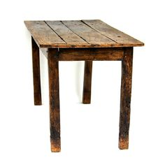 This is a beautiful 18th century French Table – Which we believe to be Elm. There is significant woodworm to the table which we have treated and believe to have all gone. At some point in its life this table has been raised which is very common for tables of this age, we have tried to photograph this. There are quite a few 'lumps and bumps' to this table (which we love.) Measurements are approx. 173cm long, 72cm wide and 77cm tall.