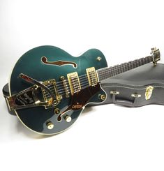 2017 GRETSCH PLAYERS EDITION BROADKASTER JR CADILLAC GREEN HOLLOW GUITAR w CASE | eBay