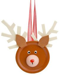 Simple and cute reindeer ornament using a canning lid, kids could make it for their grandparents.