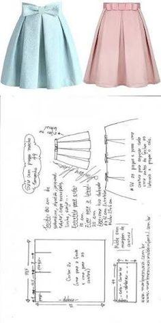 Sewing Dress Saia com pregas macho fácil de fazer Sewing Dress, Dress Sewing Patterns, Diy Dress, Sewing Clothes, Clothing Patterns, Pattern Sewing, Fashion Sewing, Diy Fashion, Trendy Fashion