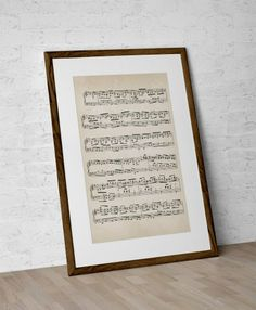 What a brilliant idea - beautifully printed and framed sheet music of your wedding song!