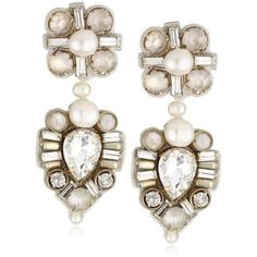 "Ranjana Khan ""Deco Bride"" Bride Drop Earrings - Price: $151.60"
