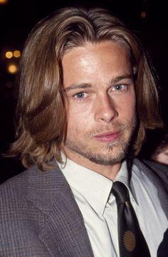 51 Years of Brad Pitt's Hairstyles Brad Pitt Hair, Tyler Durden, Jesse James, Leonardo Dicaprio, Most Beautiful Man, Angelina Jolie, Perfect Man, American Actors, Actresses