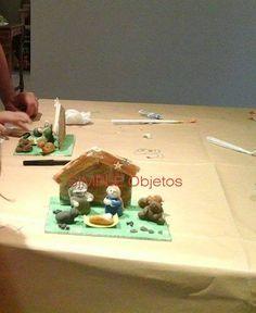 taller Navidad: Pesebre en porcelana fria