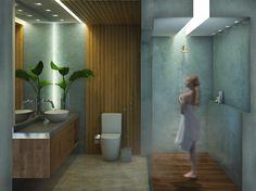 Trabalho autoral de interiores por Andressa Emerique - 2018. Porque menos é mais.  #blackmirror #bathroom #blackmirror #dark #banheiro  #brutalismo #decor #interiores #sketchup #vray #photoshop #arquitetura #projetodeinteriores